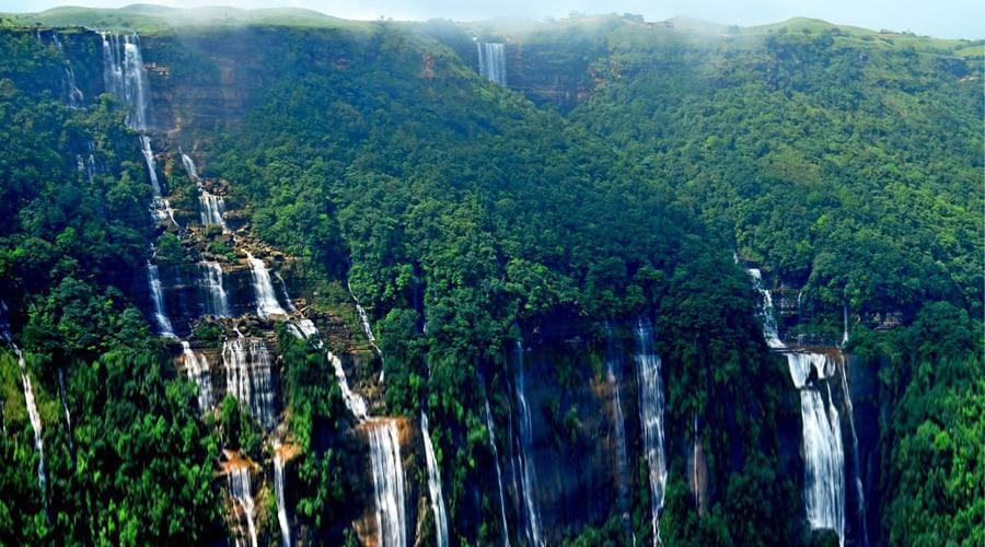 Seven Sisters Waterfall, Gangtok, North East India