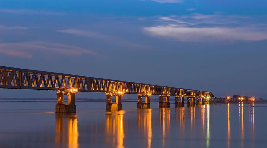 Bogibeel Bridge, Brahmaputra, Guwahati, Assam