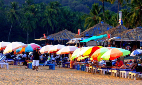 Anjuna Beach, Bardez, North Goa, Goa, India