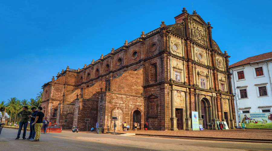 Basilica of Bom Jesus or Borea Jezuchi Bajilika, Old Goa, Goa, India