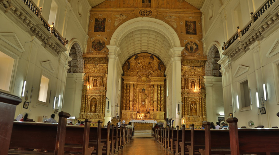 Basilica of Bom Jesus or Borea Jezuchi Bajilika, Old Goa, Goa, India