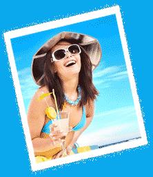 Girl on Beach - Center Slider
