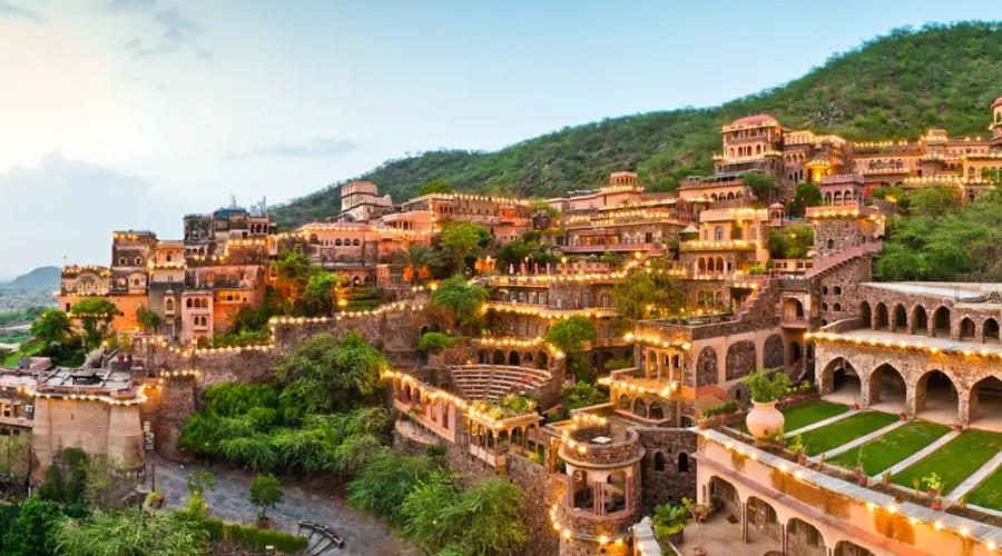 Neemrana Fort Palace, Delhi Jaipur Highway, Neemrana, Rajasthan, India