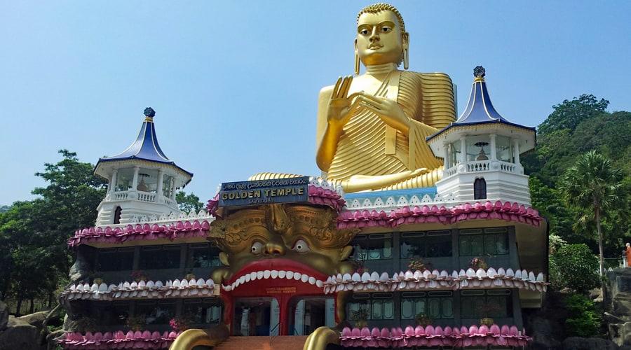 Dambulla Royal Cave Temple, Dambulla, Sri Lanka, Asia
