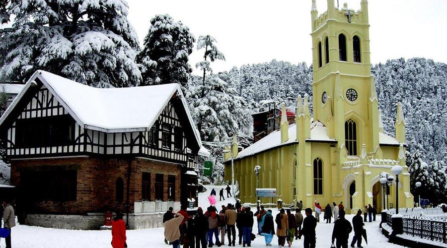 Mall Road, Shimla, Himachal Pradesh, India