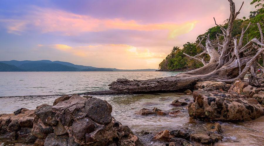 Corbyn's Cove Beach, Port Blair, Andaman and Nicobar Islands, India