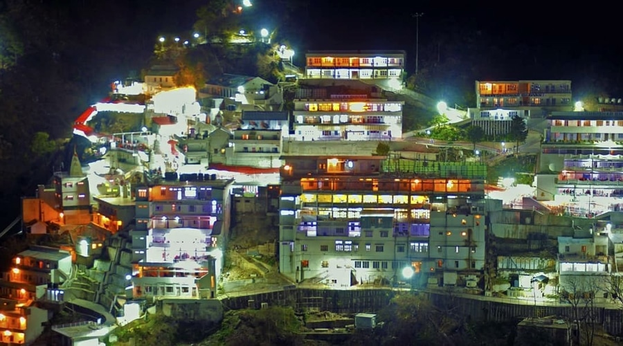 Bhavan Night View, Vaishno Devi Yatra, Katra, Jammu and Kashmir, India
