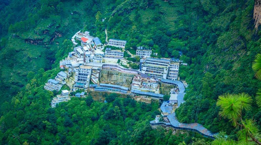 Bhavan View From Bhairav Nath, Vaishno Devi Yatra, Katra, Jammu and Kashmir, India