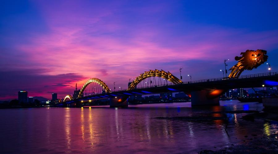 Dragon Bridge, Da Nang, Vietnam, Asia