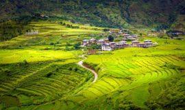 Paro Valley, Paro, Bhutan, Asia