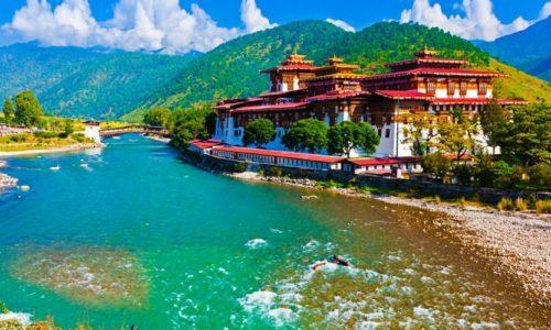 Punakha Dzong, Wangdue Phodrang, Bhutan, Asia
