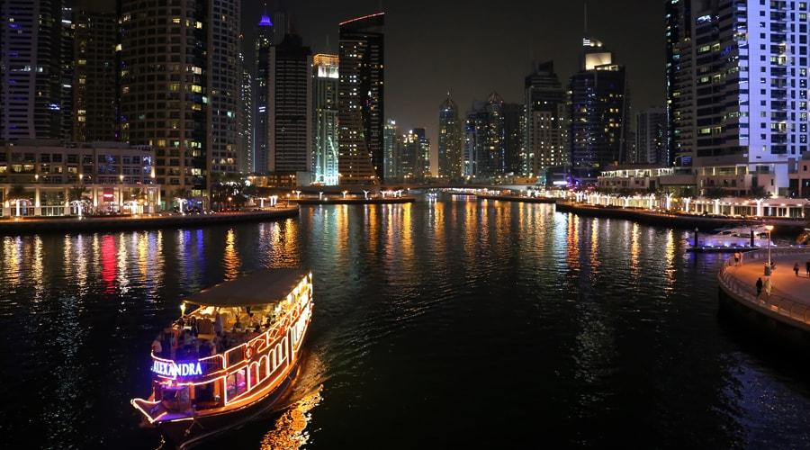 Dhow Cruise, Dubai Marina, Dubai, United Arab Emirates, Middle East