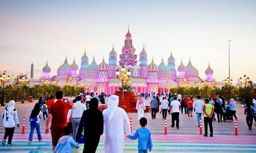 Gate of The World, Global Village, Dubai, United Arab Emirates, Middle East