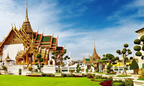 Wat Benchamabophit (The Marble Temple), Bangkok, Thailand, Asia