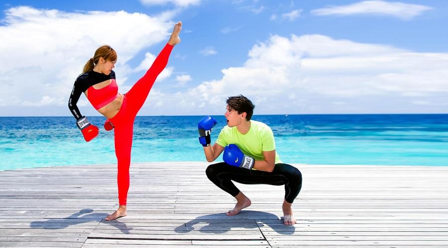 Kick Boxing @ W Maldives by Marriott International, Fesdu Island, Maldives, South Asia