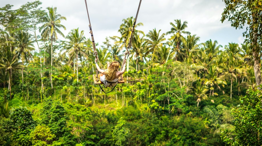 Romantic, Bali Swing, Ubud, Bali, Indonesia, Asia