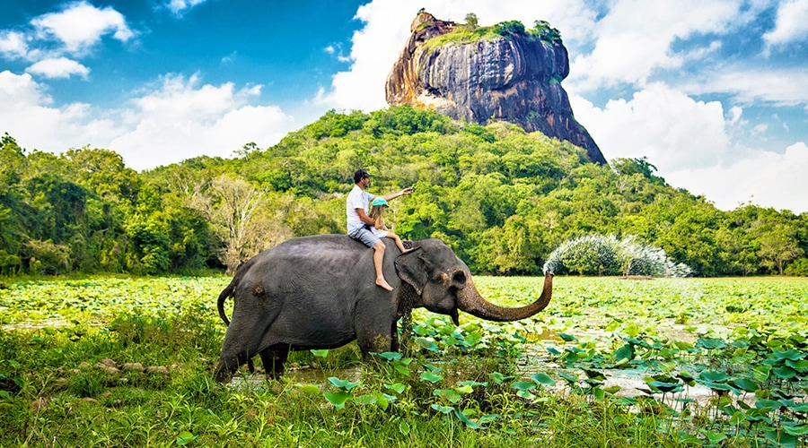 Sigiriya or Sinhagiri Rock, Sigiriya, Sri Lanka, Asia