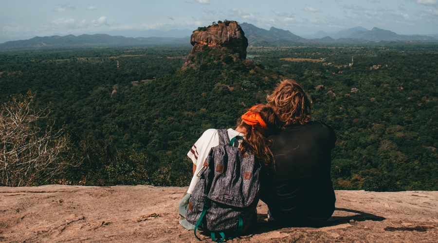 Romantic Sigiriya or Sinhagiri Rock, Sigiriya, Sri Lanka, Asia