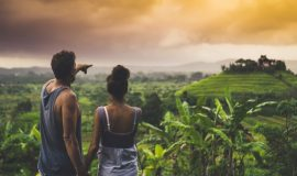 Romantic, Near Sidemen Valley, Bali, Indonesia, Asia