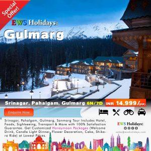 Gulmarg Tour 6N/7D @ 14,999