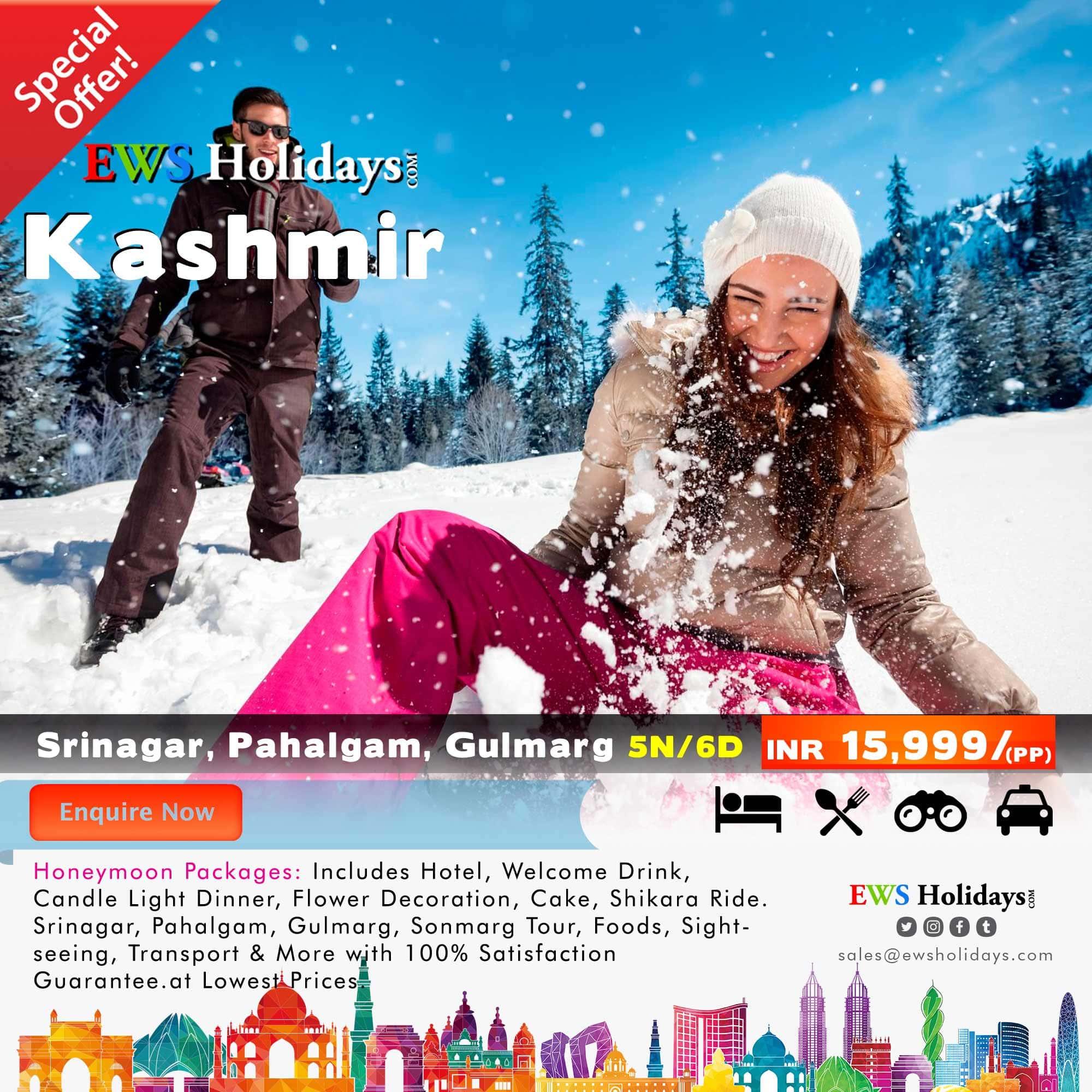 Kashmir Honeymoon Package 5N/6D @ 15,999